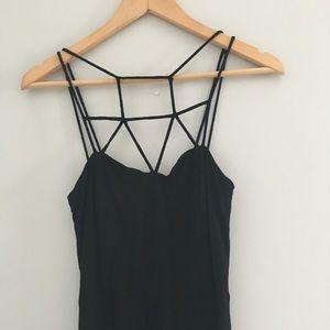 Tobi Black Caged Maxi Dress